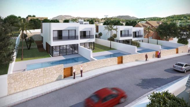 Exclusive Luxury Development of only Six Linked Villas 200m From The Sea In Moraira