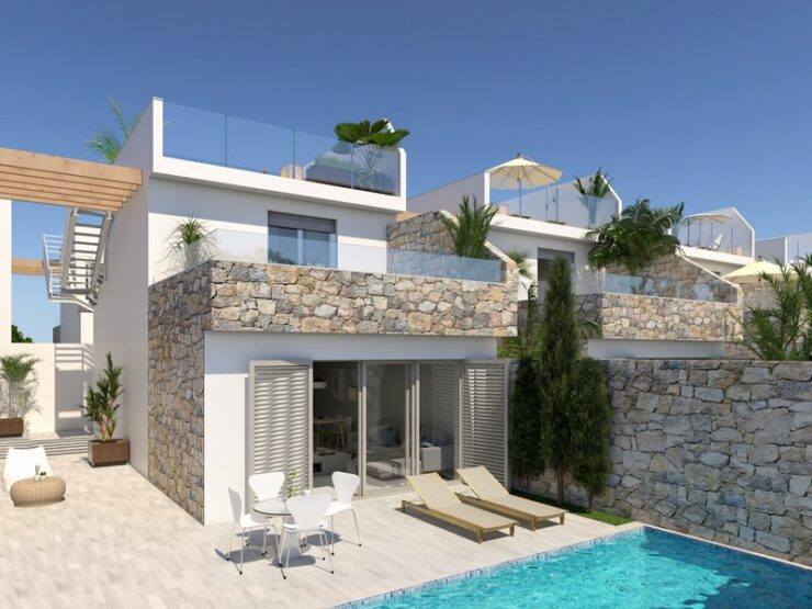 3 Bed 2 Bath Luxury Villas Off Plan in Los Alcazares, Spain