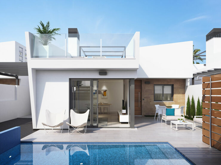 Fantastic New Build 3 Bed Villa 300M From The Beach In Los Alcazares