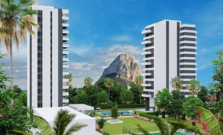 2 New Buildings in Calpe 85 Brand New 2 & 3 Bed Apartments- 400m from the beach