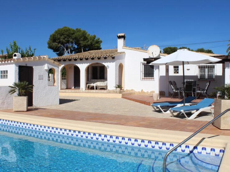 3 Bed Villa All On One Level With Private Pool in Moraira