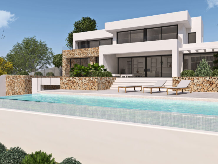 New Luxury 4 Bed 4 Bath Villa With Fantastic Sea Views in One Of The Best Locations Close to Moraira