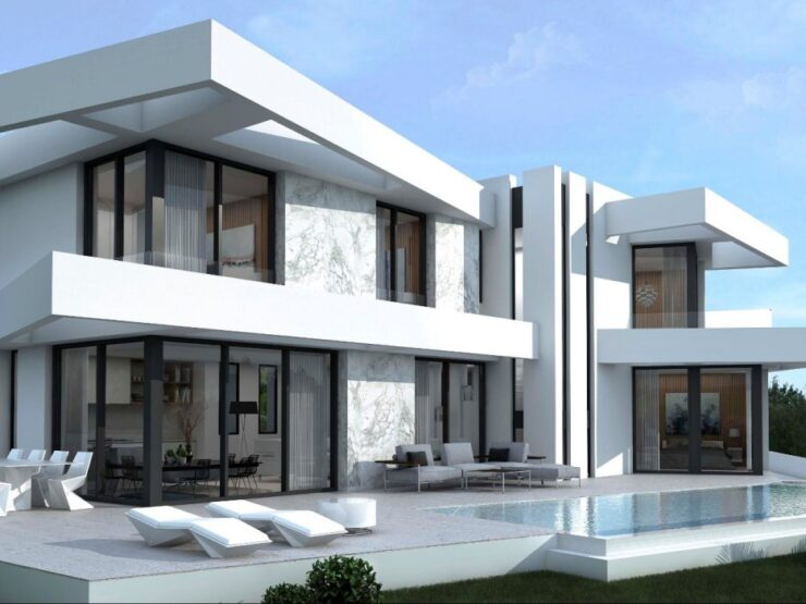 LARGE ULTRA MODERN 4 BED VILLA WITH SEA VIEWS IN LOS MOLINOS, BENITACHEL