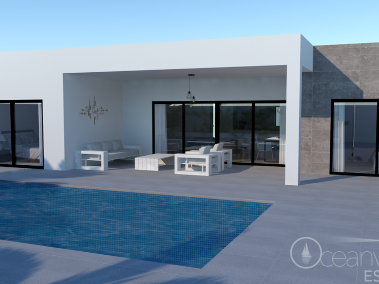 New modern 3 bedroom 2 bathroom Villa close to Moraira