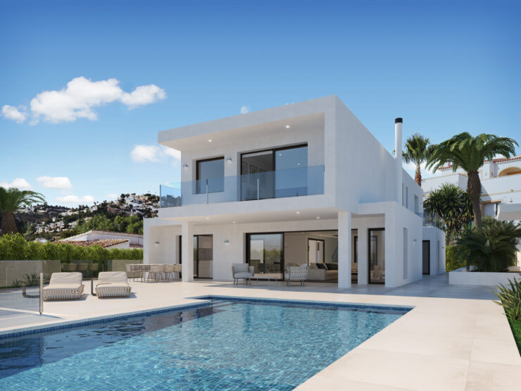 Magnificent High Quality Modern 4 Bedroom 4 bathroom Villa With Amazing Sea Views Moraira