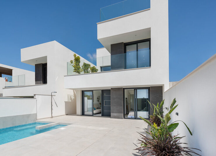 Beautiful New Modern 3 Bed Villas with Underbuild and Optional Private Pool in Benijofar.