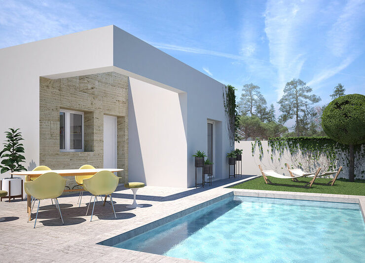 Fantastic New 2 Bed Villa With Private Pool   Benijofar