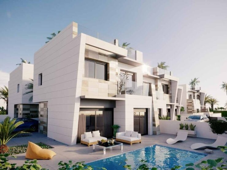 New 3 Bed Modern Villa With Private Pool in Benijofar