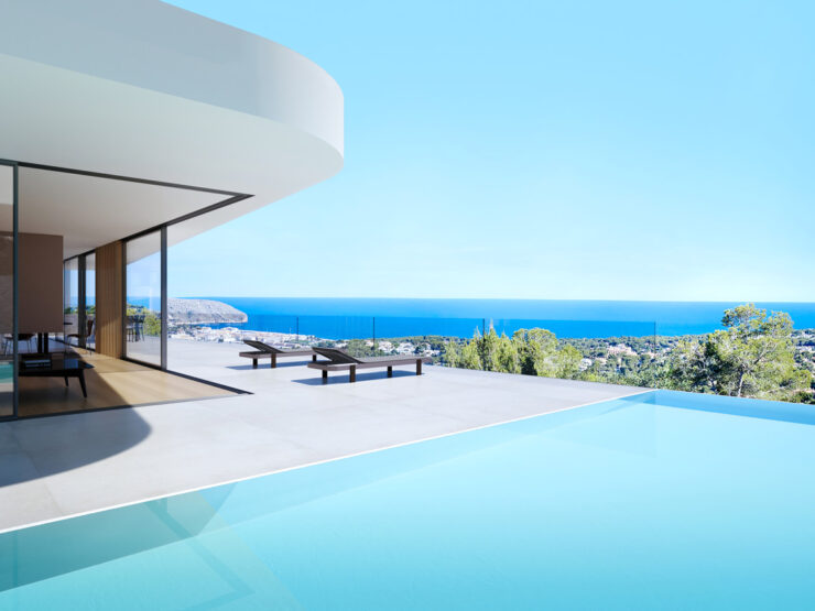 Spectacular New Build Modern 4 Bed Villa With Amazing Sea Views In Moraira