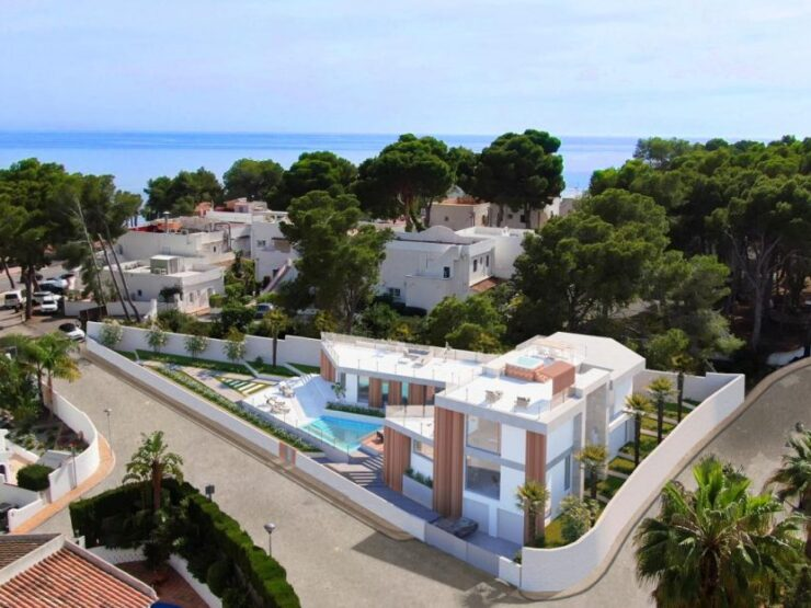 Luxury 4 Bed Villa Off Plan 100m From The Sea In Moraira Walking Distance To All Amenities