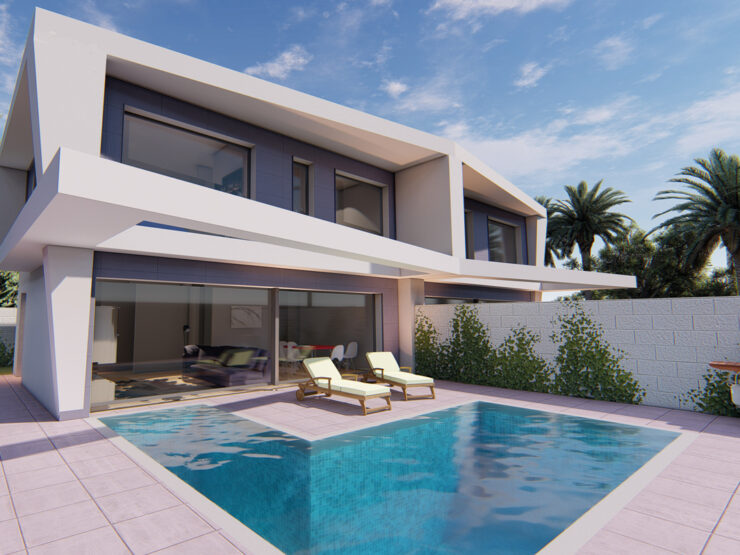 Brand New 4 Bed 3 Bath Semi- Detached  Villas In Gran Alacant